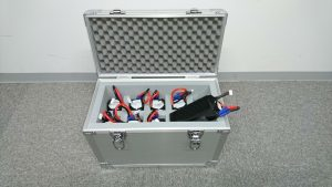 ドローンバッテリー収納用アルミケース